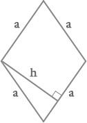 Rombas plotas formulė skaičiuoklė